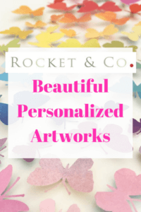 Rocket & Co. make the most beautiful personalized art works - perfect for when you need something extra special but have no idea what to get
