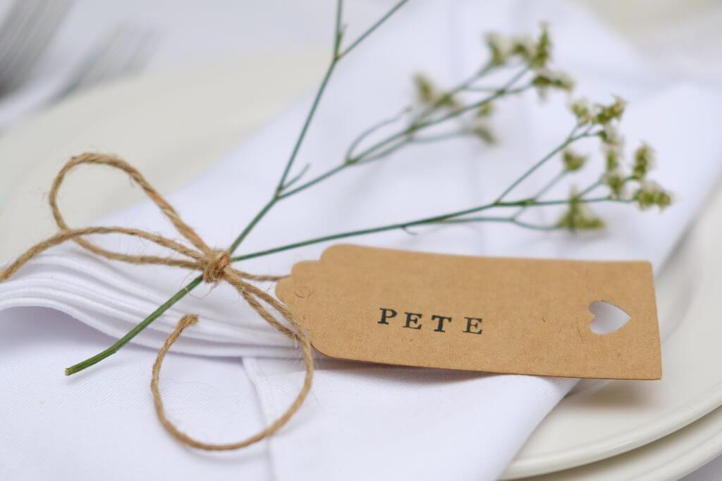 Making Diy Kraft Tag Wedding Place Names Savvy In Somerset