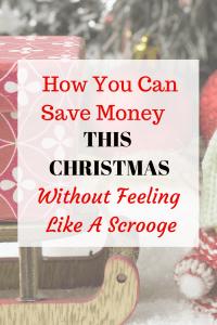 Saving Money at Christmas-11 Things I Refuse to Buy This Year - Pin Image