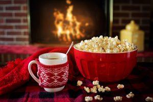 10 Savvy Date Night Ideas - Popcorn, Open Fire, Hot Drink