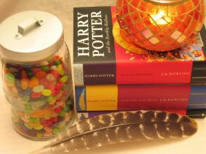 How To Tell If You Have A Harry Potter First Edition Harry Potter books, Jelly beans, candle and feather