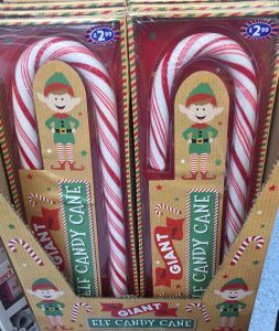 Christmas shopping at B&M - Giant Candy Canes
