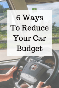 6 Ways to Cut Down on Your Car Budget