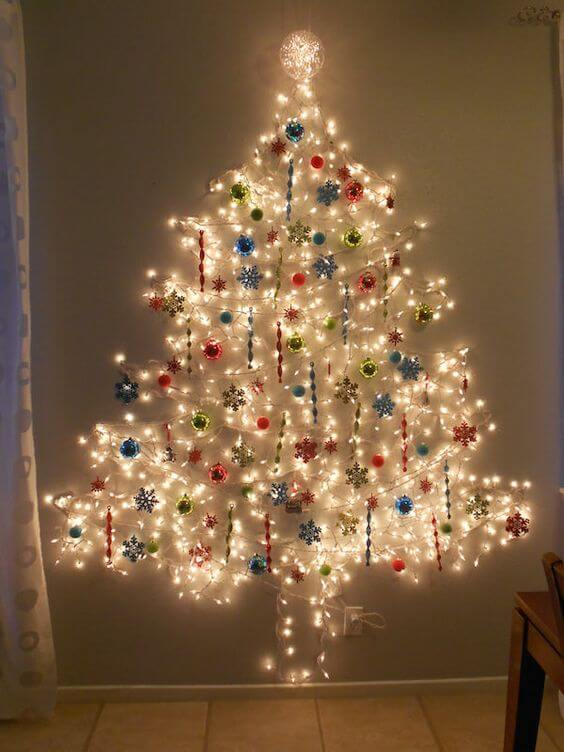 5 Easy Christmas Crafts to Save you Money - Alternative Christmas tree without a tree