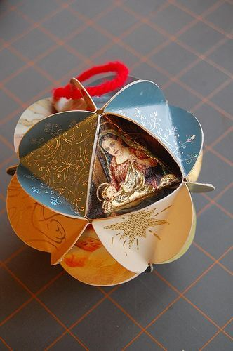 5 Easy Christmas Crafts to Save you Money -Traditional Paper Bauble Christmas Ornament